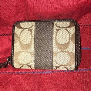 COACH zip ID/Card/Change small wallet